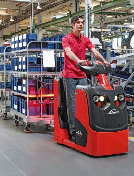 Linde Tow Tractor : P tow tractor by linde mh optimized for lean