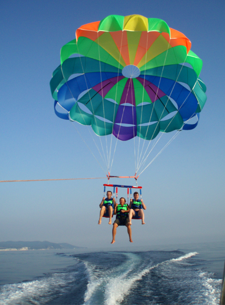 Paragliding Parachutes Water Sports Polyot