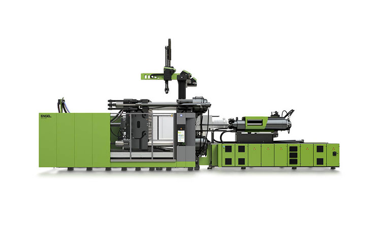 Plastics injection moulding system by Engel