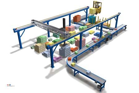 Gantry Warehouse Case Picking Layer Picking Storage