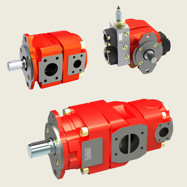 Mobile and industrial hydraulics, Pumps, Motors, Valves, Power units