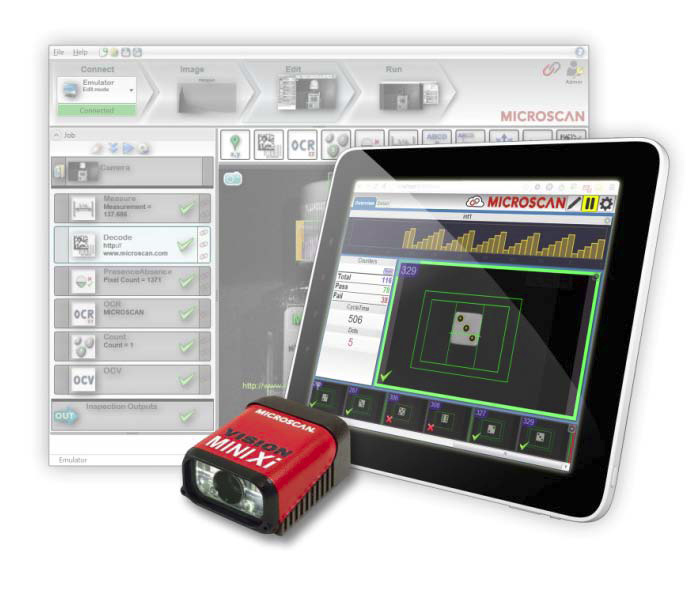 Microscan showcased its AutoVISION® machine vision software at