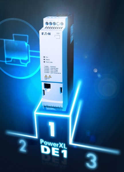 The compact PowerXL DE1 variable speed starters provide the ideal solution for applications requiring a variable speed but with only a limited range of functions. Photo by Eaton Corporation