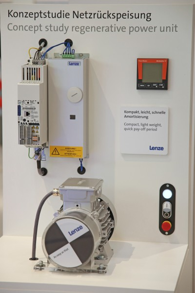 Lenze presented new regenerative power unit made of silicon