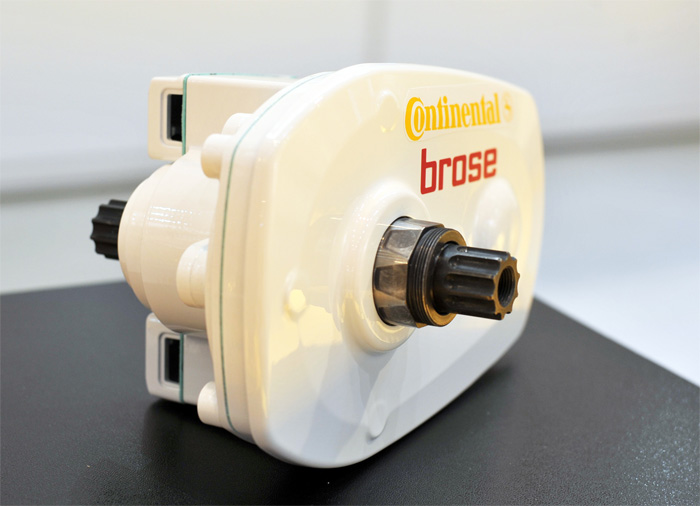 Mutual market launch: the mid-drive motor for Continental's drive system for pedelecs was developed by the automotive supplier Brose, and optimized for the new Continental system.Photo by ContiTech