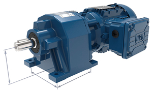 The new WG20 geared motor product line features standardised mounting dimensions and rugged pressure-cast aluminium housings along with extremely high efficiency and reliability (shown here: WG20 with helical gear unit)Photo by WATT DRIVE ANTRIEBSTECHNIK GMBH