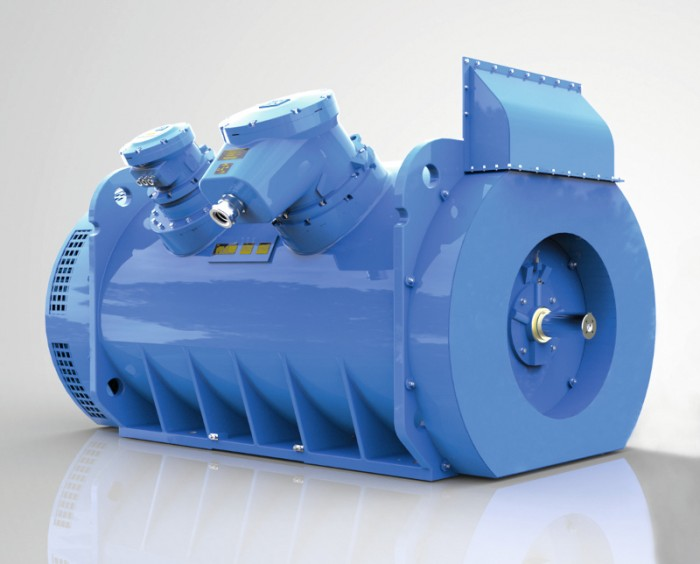 1: WEG's expanded range of robust explosion-proof W22X motors now covers  sizes from IEC 71 to IEC 800.Photo by WEG