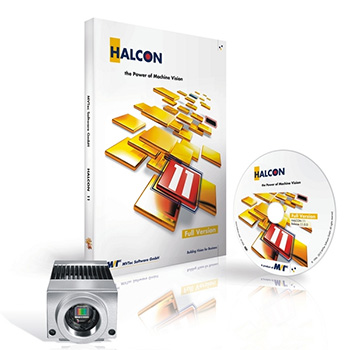 Machine vision software HALCON Embedded is running on VC