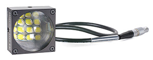 Single LED block from IES which is used as core element for creating larger crashtest LED lamp system which are used in trigger mode